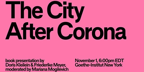 The City After Corona: Book Presentation tickets