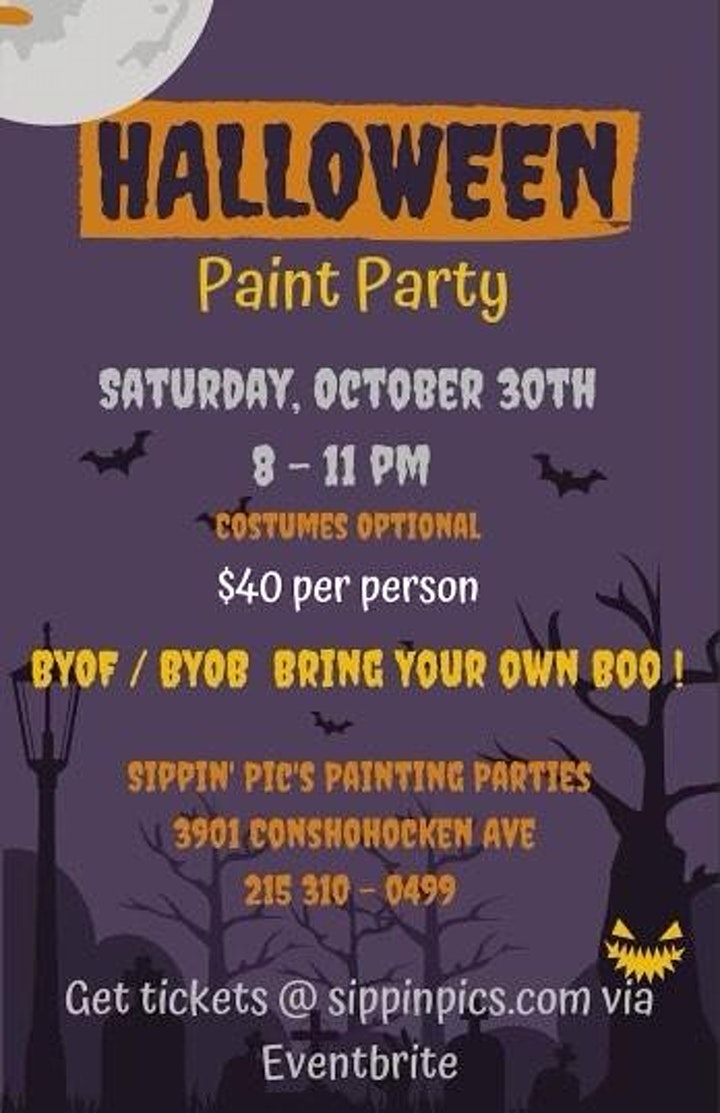 Halloween Paint Party image