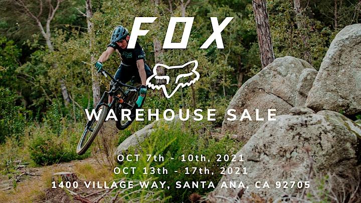 Fox Racing Warehouse Sale - Santa Ana, CA image