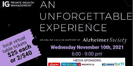 Unforgettable Experience Virtual Alzheimer Gala - ASHPE Table Tickets tickets