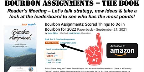 Bourbon Assignments Meeting - Live Event for Readers of Steve Akley's Book tickets