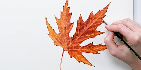 Watercolor Fall Leaves Workshop and Happy Hour tickets