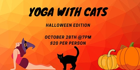 Yoga with Cats - Halloween Edition tickets