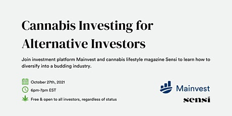 Cannabis Investing for Alternative Investors tickets