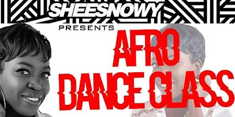 Sheesnowy Afrodance Class tickets