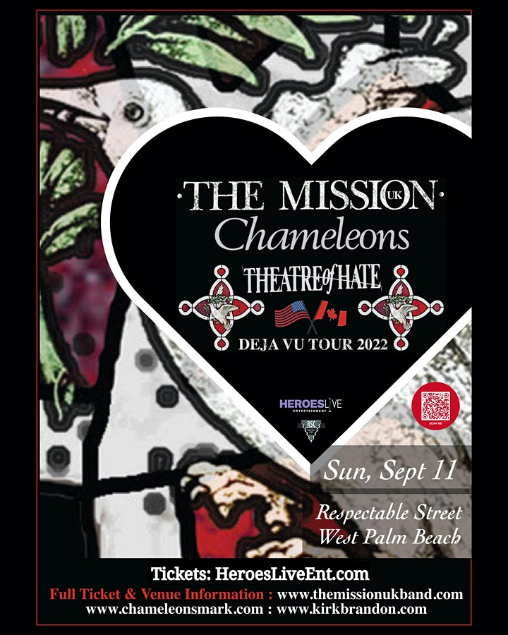 Deja Vu Tour 2022: The Mission (UK) + Chameleons + Theatre of Hate image