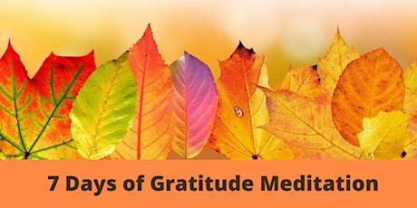 7 Days of Gratitude: Gratitude Meditation and Practice tickets