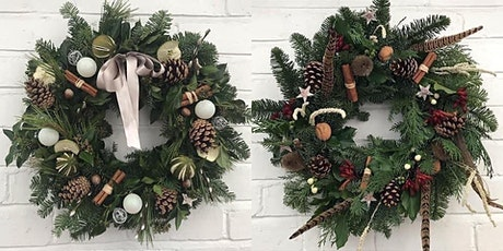 Luxury Christmas Wreath Workshop at Beautiful Broadfield Court in Hereford tickets