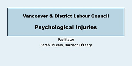 Psychological Injuries tickets