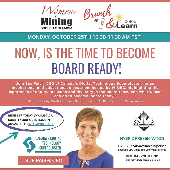 WIMBC Brunch & Learn - October 25, 2021-Hybrid Event (In Person & Virtual) image