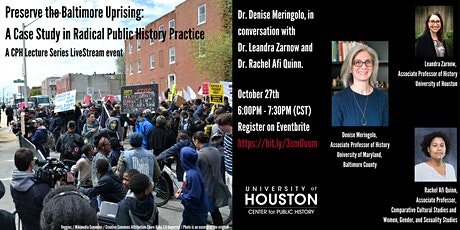 Preserve the Baltimore Uprising:  Radical  Public History Practice tickets