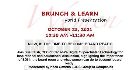 WIMBC Brunch & Learn - October 25, 2021-Hybrid Event (In Person & Virtual) tickets