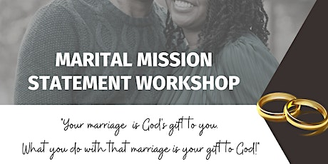 Creating a Marital Mission Statement tickets