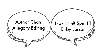 Allegory Editing Author Chats: September 26th—Kirby Larson tickets