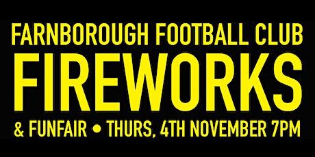 Farnborough Football Club Fireworks Display & Fun Fair tickets