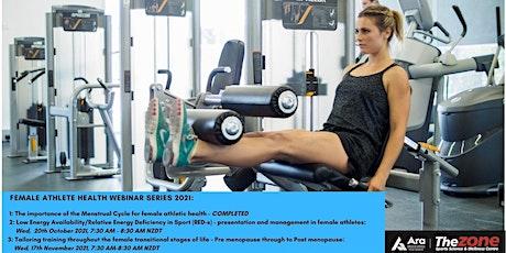 Female Athlete Health Webinar Series 2021 tickets