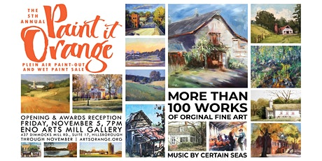 PUBLIC REGISTRATION: Paint it Orange Wet Paint Sale & Opening tickets
