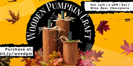 Wooden Pumpkin Craft tickets