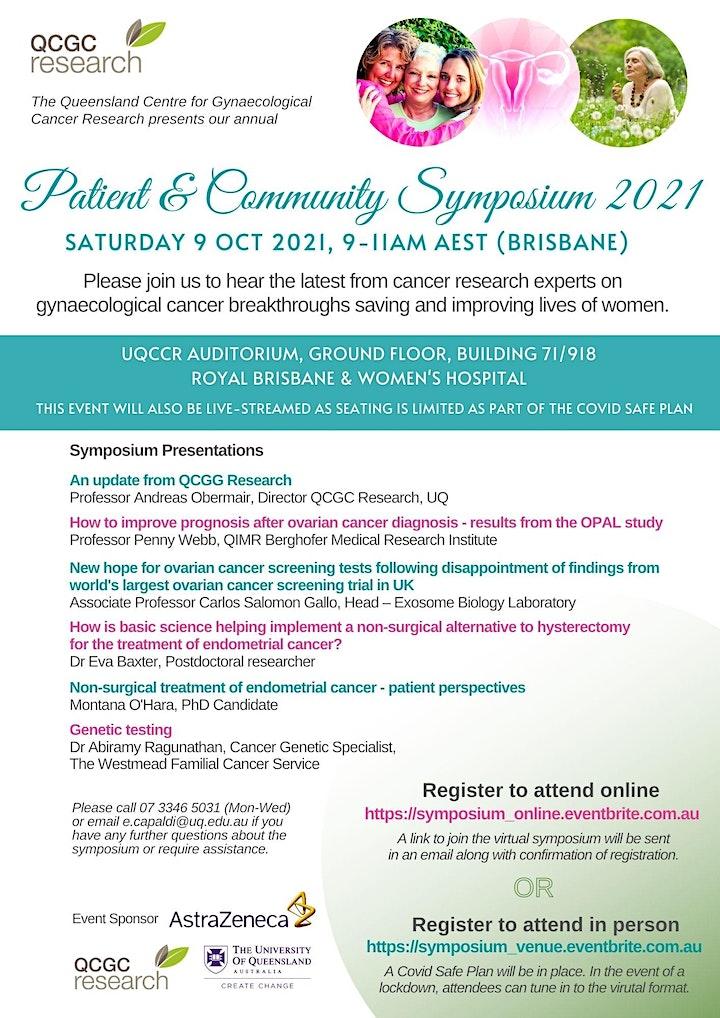 2021 Patient and Community Symposium (Online Event) image
