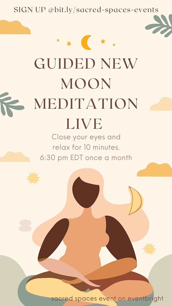 Guided New Moon Meditation Wellness Event image