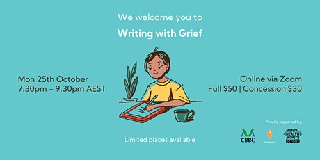 Writing with Grief tickets