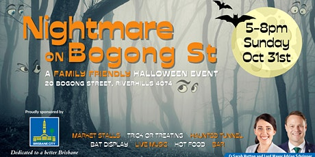 Nightmare on Bogong St - Family -Friendly Event 5-8pm Sunday October 31st tickets