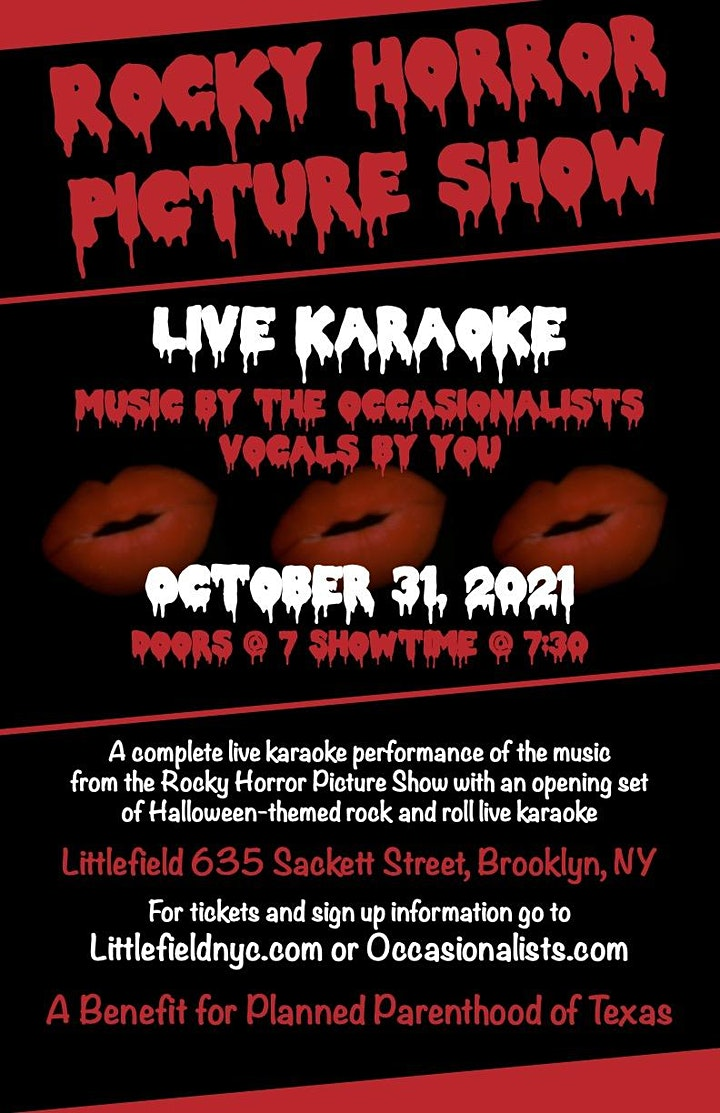 8th Annual Rocky Horror Picture Show Live Karaoke Halloween Extravaganza image