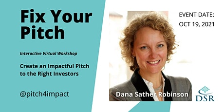 Fix your Pitch: Create an Impactful Pitch to the Right Investors entradas
