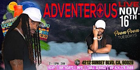 "Jamaican Reggae Artist ""ADVENTEROUS"" LiVE  At PooM pOOm TUESDAYS tickets"