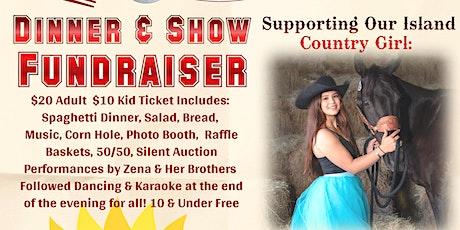 Dinner Fundraiser For Zena with live music, line dancing karaoke tickets