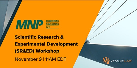 Scientific Research & Experimental Development (SR&ED) Workshop tickets