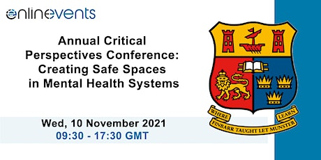 Creating Safe Spaces in Mental Health Systems: Critical Perspectives tickets