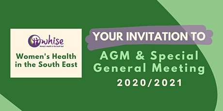 WHISE AGM & Special General Meeting 2020/21 tickets