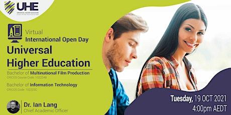 Universal Higher Education (UHE Australia)- Virtual International Open Day tickets