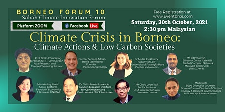 Climate Crisis in Borneo: Climate Actions and Low Carbon Societies tickets