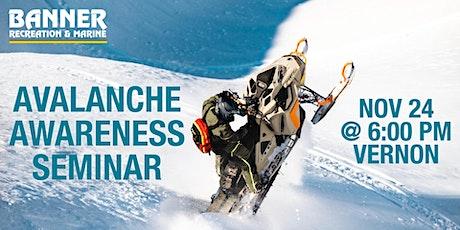 of Avalanche Awareness Seminar - Banner Vernon tickets