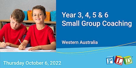 Years 3 to 6  Small Group Half Day Coaching October 2022 tickets