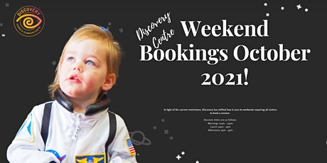 Weekend Bookings October 2021! Morning Session tickets