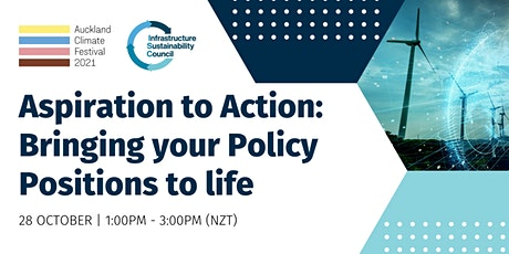 Aspiration to Action: Bringing your Policy Positions to life tickets