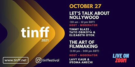 TINFF Virtual Program Topic : Let's Talk About Nollywood tickets