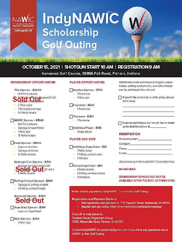 IndyNAWIC 2021 Scholarship Golf Outing image