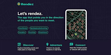 RENDEZ-FREE event- design tech startup networking indoor/outdoor happy hour tickets