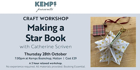 Craft Workshop - Make a beautiful Star Book (perfect Christmas cards) tickets