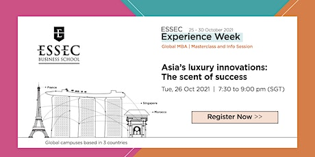 Asia's luxury innovations: The scent of success by Prof. Denis Morisset Tickets