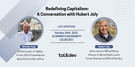 Redefining Capitalism: A Conversation with Hubert Joly tickets