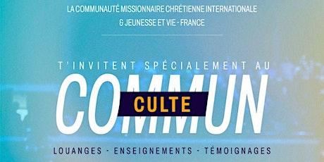 CULTE COMMUN - 31 Octobre 2021 billets