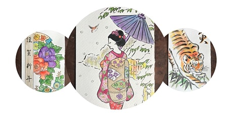Order hand drawn Japanese winterly greeting cards for special occasions tickets
