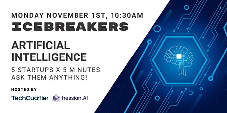 Icebreakers #16 - Artificial Intelligence! TQ Startup Pitches Tickets