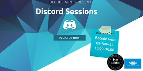 BeCode Gent - Discord Session tickets