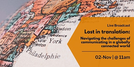 Communicating in a globally connected world (11:00-12:00) tickets